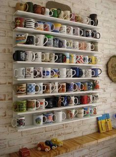 awesome 30 Fun and Practical DIY Coffee Mugs Storage Ideas for Your Home by http://www.tophomedecorideas.space/dining-storage-and-bars/30-fun-and-practical-diy-coffee-mugs-storage-ideas-for-your-home-2/