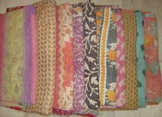 I'm loving kantha quilts. Want them for the cabin.