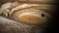 Amazing images: Jupiter's Great Red Spot and volcanic moon Io