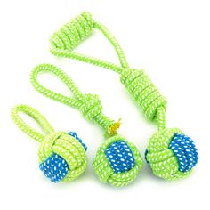 Transer Pet Supply Dog Toys Dogs Chew Teeth Clean Outdoor Traning Fun Playing Green Rope Ball Toy For Large Small Dog Cat 71229 - Dog Chew Toys, Pet Toys, Food Dog, Interactive Dog Toys, Toy Puppies, Dog Teeth, Teething Toys, Dog Chews, Dog Toys
