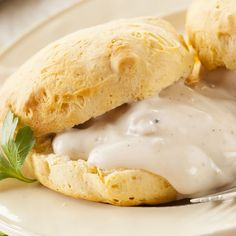 Breakfast Recipe: Buttermilk Biscuits with Sausage Gravy.,I see a big difference in the gravy w onions & lot of spices. Wouldn't call this gravy southern but bet it's good for a change or a breakfast for dinner. Breakfast Items, Breakfast Dishes, Breakfast Recipes, Brunch Dishes, Southern Dishes, Southern Recipes, Southern Food, Southern Comfort, Biscuits And Gravy