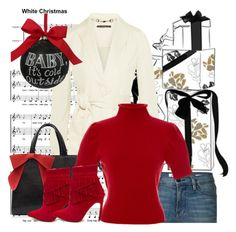 """Red Booties"" by mrs-rc ❤ liked on Polyvore featuring Frame Denim, Gucci, Blumarine, Sage & Co. and holidaystyle"