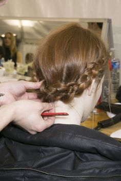 Braids backstage at Victor & Rolf