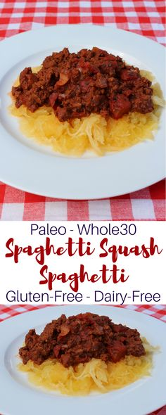 Paleo Spaghetti and Homemade Meat Sauce. This delicious spaghetti recipe is grain-free, gluten-free, dairy-free, and Whole30.