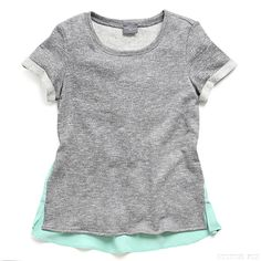 Stitch Fix Style | This Just In: Xander Short Sleeve Woven Back Sweatshirt