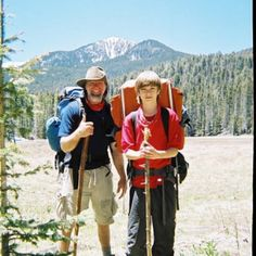 2008 backpacking Sange de Cristo mountains with my son.