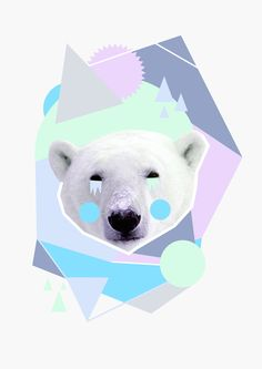 Frozen Planet Art Print by Cut and Paste Lady