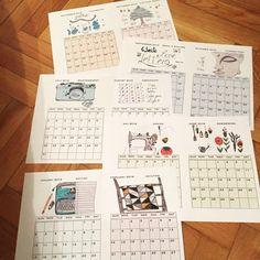 Image of Bubiknits Art Calendar 2016 - A5 digital download