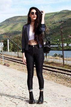 The Street Style Hipster Fashion, Dark Fashion, Grunge Fashion, Boho Fashion, Fashion Beauty, Fashion Outfits, Womens Fashion, Fashion Tips, Style Fashion