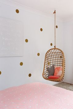 Hanging chairs look amazing in kids bedrooms or playrooms. There isn't a kid in the world who wouldn't want one of these!   Our products are made from natura
