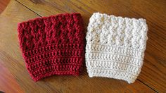 Boot Cuffs. Easy pattern