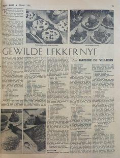 Mev. Sannie Bosman van Pretoria was in Mei, 2005 ons Teetydtreffer-wenner vir haar lekker vinnige Peppermint Crisp-tert. Deur Vickie de Beer Peppermint Crisp, Pretoria, Vintage Recipes, Mei, Afrikaans, Rose, Tarts, Cake Ideas, Mince Pies