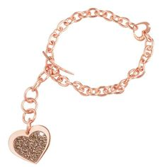 Rebecca Pink Gold Coated Bronze Bracelet (BMHBRM23) for $159 at DarcysFineJewelers...   See conta.cc/GDSTBK to receive 25% discount.