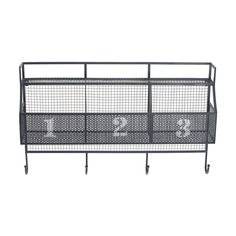 Shop Urban Trends  32078 Gray Mesh Metal Wall Shelf at ATG Stores. Browse our coat racks, all with free shipping and best price guaranteed.