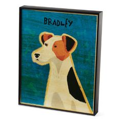 I really like the personalization of this animal art, they have over 20 different breeds - adds a nice personal touch to your home and an artsy way to incorporate your pet.