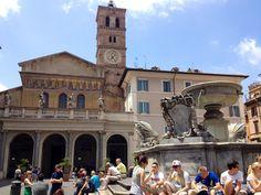 Rome, Trastevere neighborhood, St.Maria in Trastevere's church