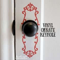 vinyl decorative doorknob