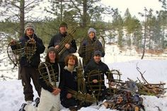 Winter survival skills - willow branch snowshoes
