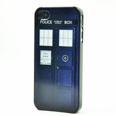 Amazon.com: Doctor Who Tardis Police Box Hard Snap on Case Cover for Apple Iphone 4 Iphone 4S + Screen Protector: Cell Phones & Accessories