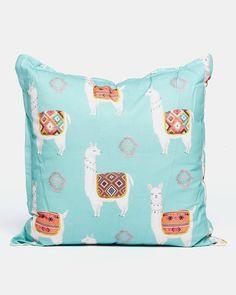 Grey Gardens Lama Scatter Cushion Aqua