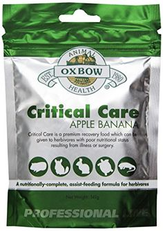 Oxbow Critical Care Apple/Banana Pet Supplement, 141gm Oxbow http://www.amazon.com/dp/B001FKACXO/ref=cm_sw_r_pi_dp_UQxYub0D3XAPT