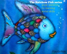 The Rainbow Fish series, by Marcus Pfister: Great Resource for learning social skills - Play Dr Mom Play Therapy Activities, Book Activities, Best Children Books, Childrens Books, Rainbow Fish Activities, Social Emotional Activities, Social Thinking, Book Themes, Social Skills