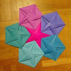 Pentagon variation by Tereza Corsini from Square envelope by Ekaterina Lukasheva.