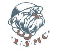 USMC Bulldog Tattoo