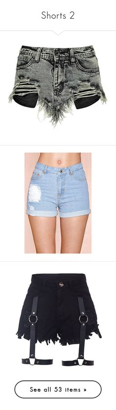 """""""Shorts 2"""" by musicmelody1 ❤ liked on Polyvore featuring shorts, bottoms, pants, short, frayed shorts, cotton shorts, denim short shorts, grunge shorts, boohoo shorts and vintage distressed shorts"""
