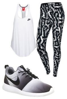 """""""Sans titre #244"""" by khedija-a ❤ liked on Polyvore featuring NIKE, women's clothing, women, female, woman, misses and juniors"""
