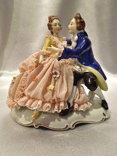 Antique Dresden Germany Porcelain Figurine.