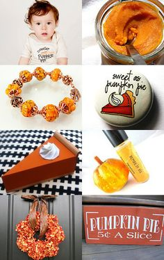 This yummy treasury features my pumpkin bracelet--Pinned with TreasuryPin.com