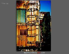 Grunge Art Photography, Rusty Train Art Print, Bold Industrial Wall Decor on Etsy, $28.00