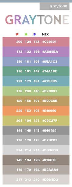 gray color schemes | Gray tone color schemes, color combinations, color palettes.