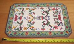 Stitching Chart for Miniature Dollhouse Rug by WhimsyWooMiniatures