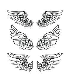 tattoos eagle back . Lettering Styles Alphabet, Tattoo Lettering Styles, Hals Tattoo Mann, Tattoo Hals, Hand Tattoos, Small Tattoos, Tattoos For Guys, Tattoos Skull, Eagle Wing Tattoos