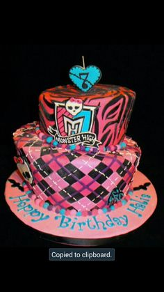 Monster High Birthday Cake Fun Birthday Ideas Pinterest