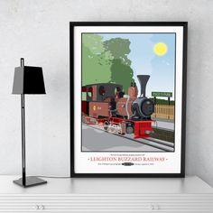 Leighton Buzzard Light Gauge Steam Railway Print by Tabitha Mary  £16.00–£105.00  The Leighton Buzzard Railway is a popular tourist attraction of this Bedfordshire town. This print makes the perfect momento to any steam enthusiasts trip to the railway or the perfect gift for a train spotter.  You can see more about the railway here http://www.buzzrail.co.uk