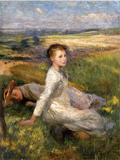Paintings of Spring: Sir George Clausen aprilie 1852 – pictor englez Pierre Auguste Cot, Tate Gallery, English Artists, Art Reproductions, Artist At Work, Landscape Art, Love Art, Champs, Les Oeuvres