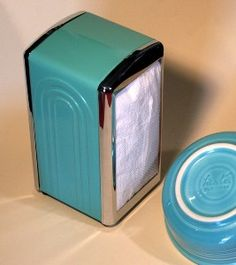 Fiesta Ware Napkin Dispenser Holder Turquoise/Green by... | Shop | Kaboodle