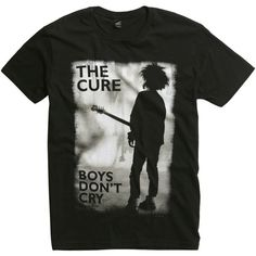 Hot Topic The Cure Boys Don't Cry T-Shirt ($17) ❤ liked on Polyvore featuring men's fashion, men's clothing, men's shirts, men's t-shirts and tops