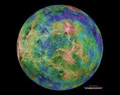 9 surreal images of Venus: Hemispheric view