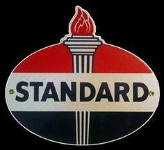 Standard Gasoline  Standard Gasoline Signs  Retro Gas Signs  Old Gas Signs  Old Gas Pump  Vintage Gas Signs