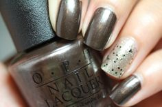 """""""Warm Me Up"""" is a gorgeous charcoal color with a pearl shimmer to it. Good choice for a dark shade for the winter but not so dark since it's not matte. Come's from Mariah Carey's 2013 Holiday Collection."""