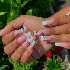 White Tip Acrylic Nails, Long Square Acrylic Nails, Bling Acrylic Nails, Cute Acrylic Nail Designs, Summer Acrylic Nails, Dope Nail Designs, Art Nails, Kylie Nails, White French Tip