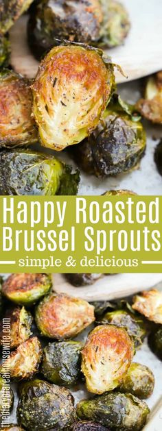 Roasted Brussel Sprouts Roasted Brussel Sprouts These Roasted Brussel Sprouts are tossed in oil and seasoned to perfection. Roasted in the oven this recipe will put a smile on your face. Radish Recipes, Healthy Recipes, Roast Recipes, Veggie Recipes, Vegetarian Recipes, Cooking Recipes, Cooking Ideas, Roasted Vegetable Recipes, Cheese Recipes