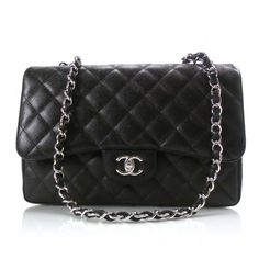 Chanel black jumbo w/ shw... x 2