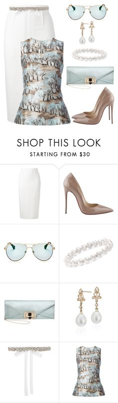 """""""Untitled #1492"""" by gallant81 ❤ liked on Polyvore featuring Roland Mouret, Christian Louboutin, Sonix, Ross-Simons, Marchesa, Blue Nile, Monsoon and Marni"""