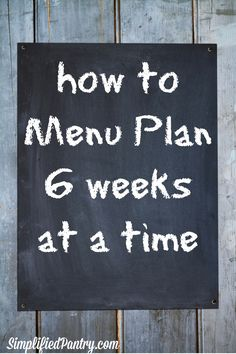 The truth is, without a menu plan, dinner-making is more exhausting, even when there's plenty of food to pull meals together. It's about decision-fatigue. At the end of the day, I want the decisions about dinner already made for me, because I don't have much energy or attention left over to give it.