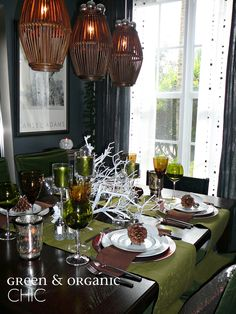 Holiday at Home Decor by Lynda Quintero-Davids #FocalPointStyling #Holiday #Christmas #Decorating:  Green & Organic Chic Christmas #Tablescape